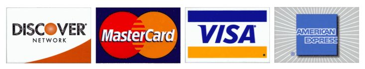credit cards | ... credit cards (Discover, MasterCard, VISA, America Express), and