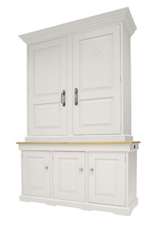 Clic And Shaker Freestanding Dressers Larders Are Handmade Painted In Britain Our Finest Kitchen Displayed Showrooms