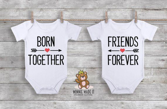 02448baec0aa Born Together   Friends Forever Matching Twins Gerber Onesies® (Set ...