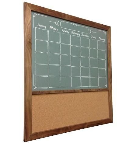 Create a functional Custom Command Center! We can add a cork board or fabric board section to any of our whiteboard designs.