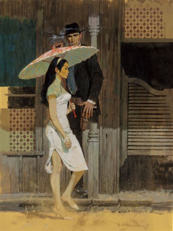 "Robert McGinnis - Paperback Cover Painting - ""The Silver Concubine"" 1962"