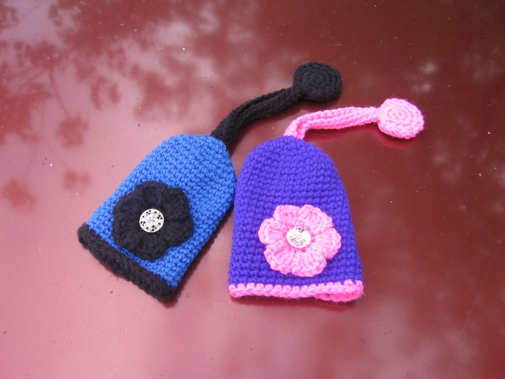 More key cozies for my hubby's co-worker and her daughter.