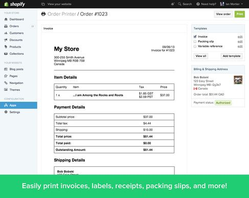 Shopify Order Printer App - order fulfilment