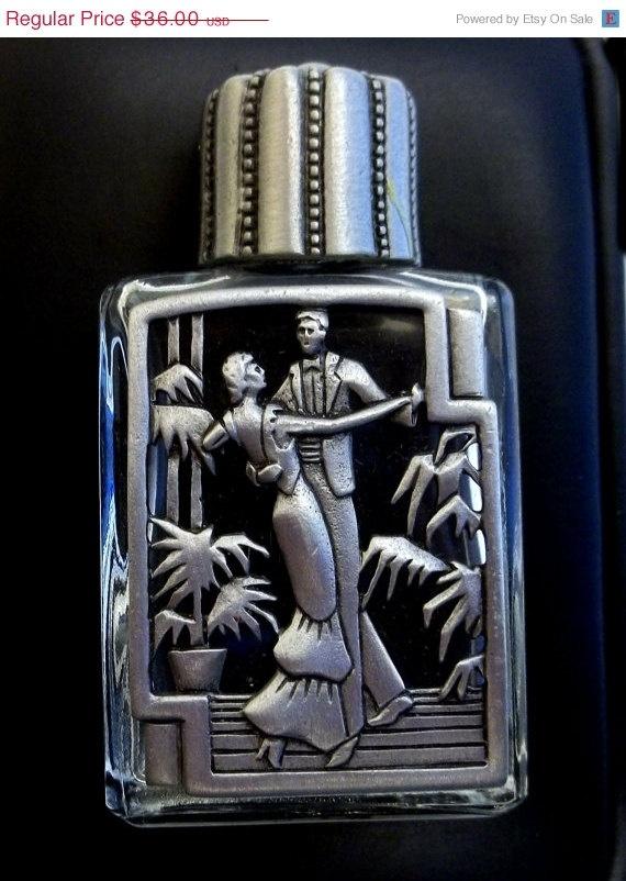 Deco Dancers Perfume Bottle JJ Jonette vintage pewter @dollherupshop, $27.00