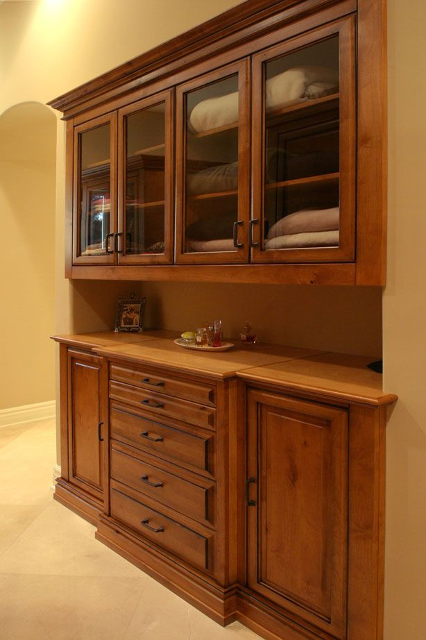 built in closet buffet makes me wish i had a closet to