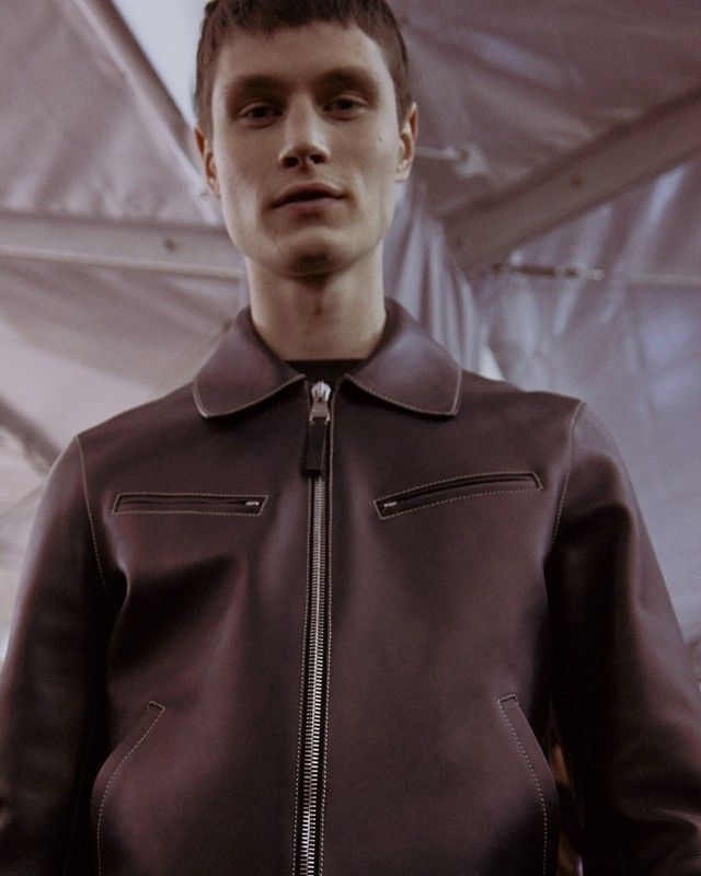 The perfect leather jacket backstage at Louis Vuitton AW15 Paris. See more here: http://www.dazeddigital.com/fashion/article/23276/1/louis-vuitton-aw15-livestream