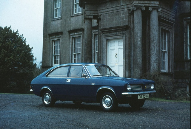 Number 1...Morris Marina Coupe 1.3 in Midnight Blue..CAP 304K..cost me 300 quid I think...(not the actual car this one!)