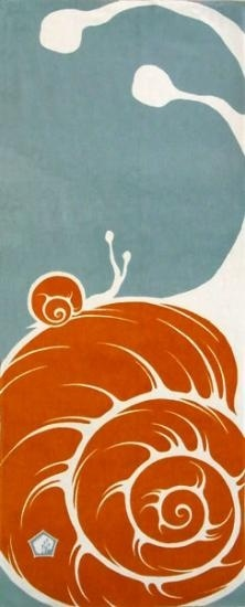snail fabric from hitogi in japan. Could lino