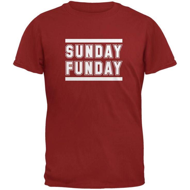 Sunday Funday Arizona Cardinal Red Adult T-Shirt