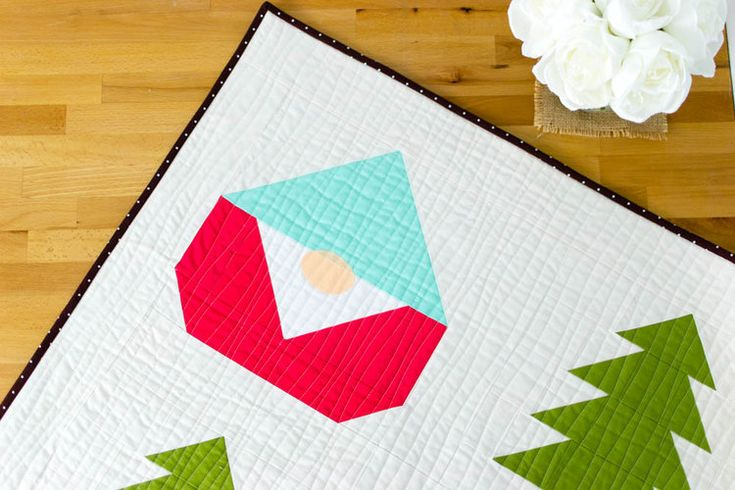 Sew A Gnome Quilt Free Block Pattern Christmas Quilts