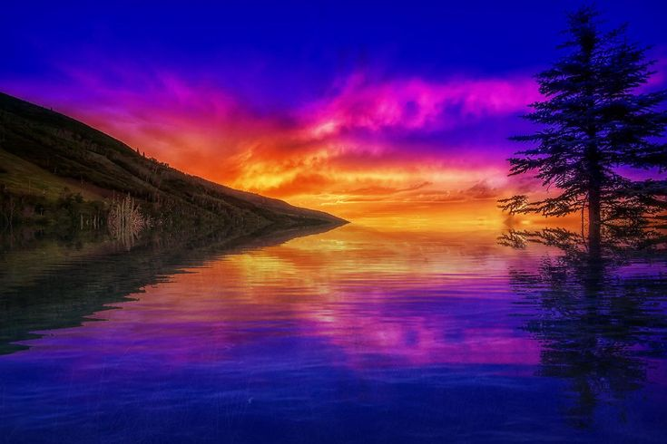 sunset, water, scenics, beauty in nature, nature, reflection, sky, tranquil scene, tranquility, cloud - sky, outdoors, no people, sea, tree, day