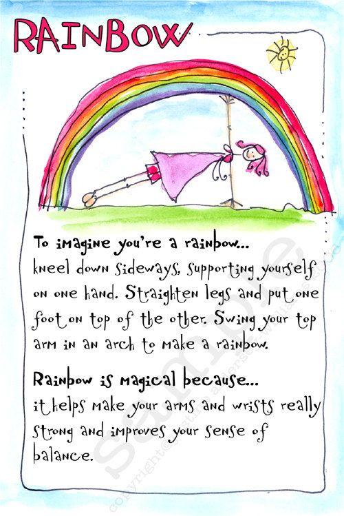 45 Printable Children's Yoga Cards to by KarmatimeYogaforKids