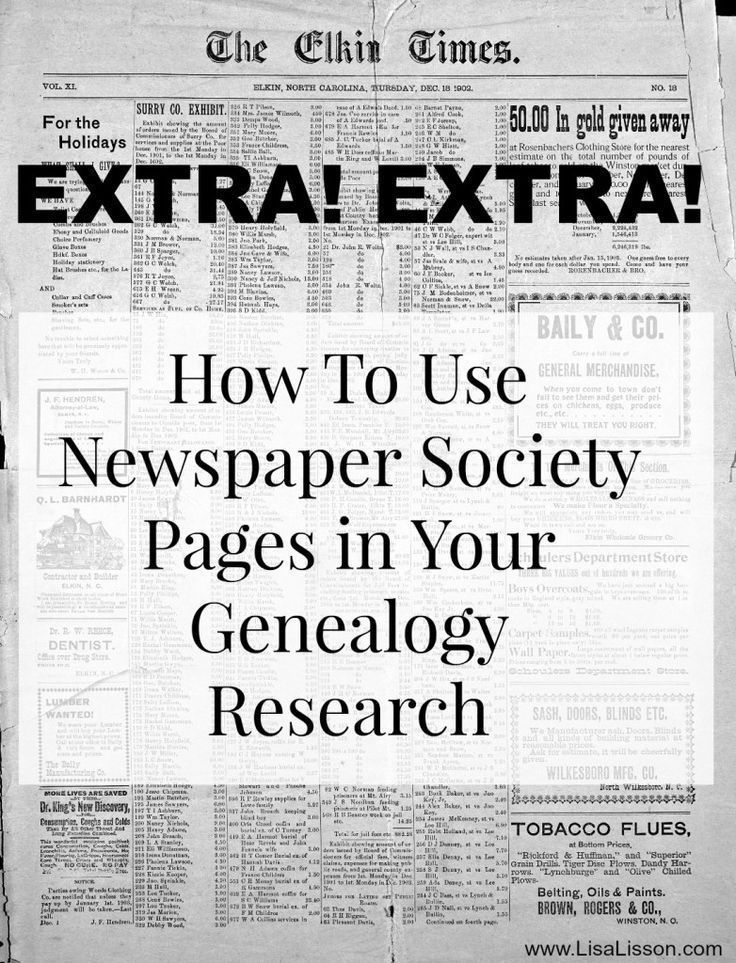 How to Use Newspaper Society Pages in Your Genealogy Research