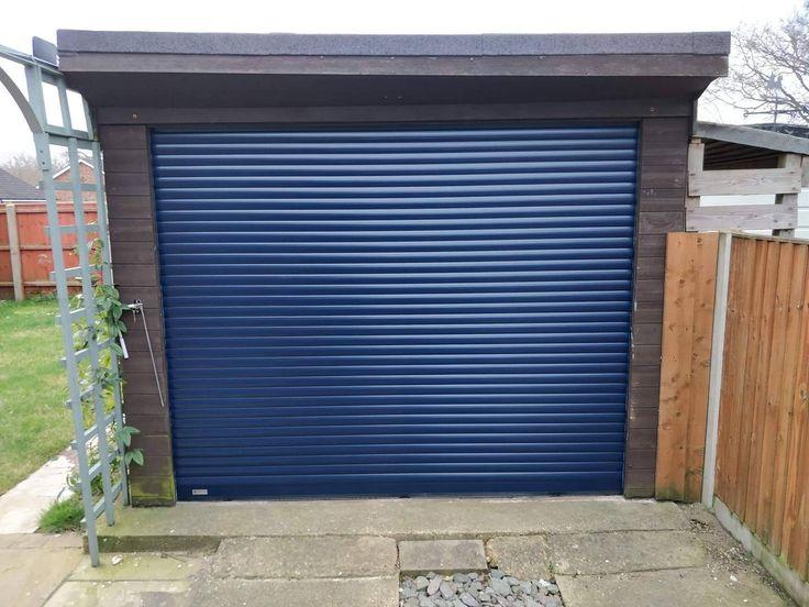 Seceuroglide Compact In Blue Blue Compact Seceuroglide In 2020 Garage Service Door Garage Doors Sectional Garage Doors