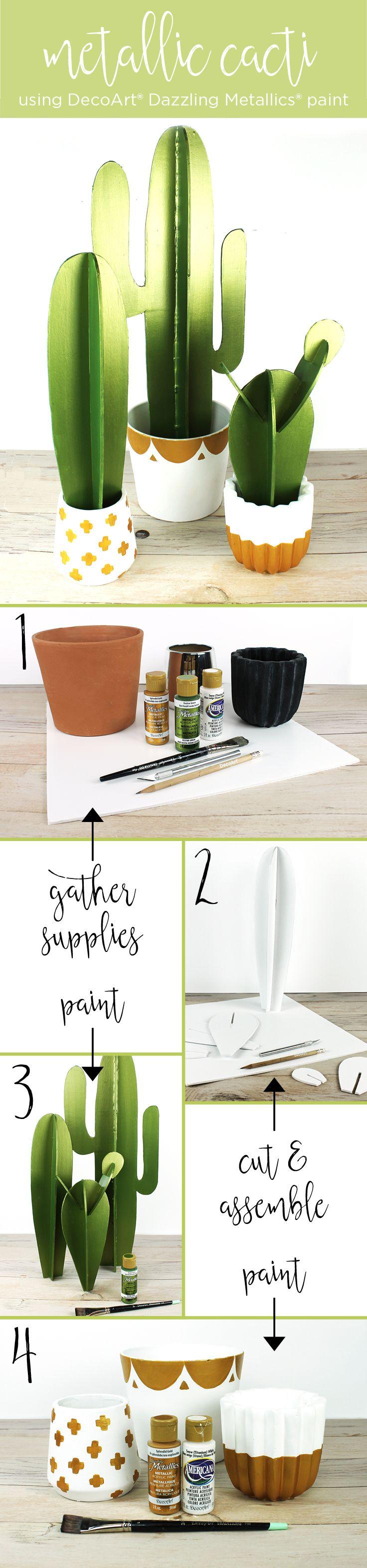 Hogyan készíts metálfényű papírkaktuszt