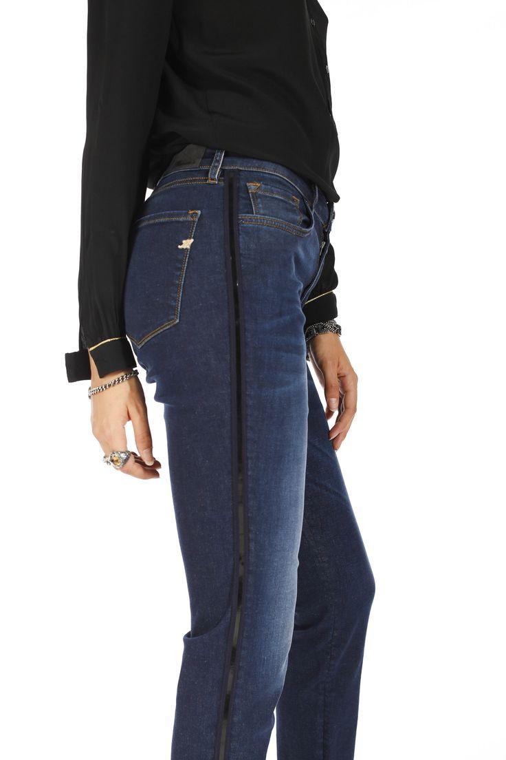 Jeans Mason's donna modello Demicurve nastro - Masons