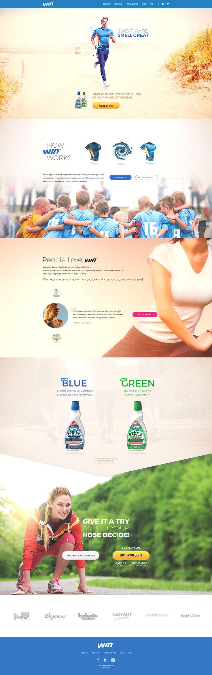 Win detergent on Behance