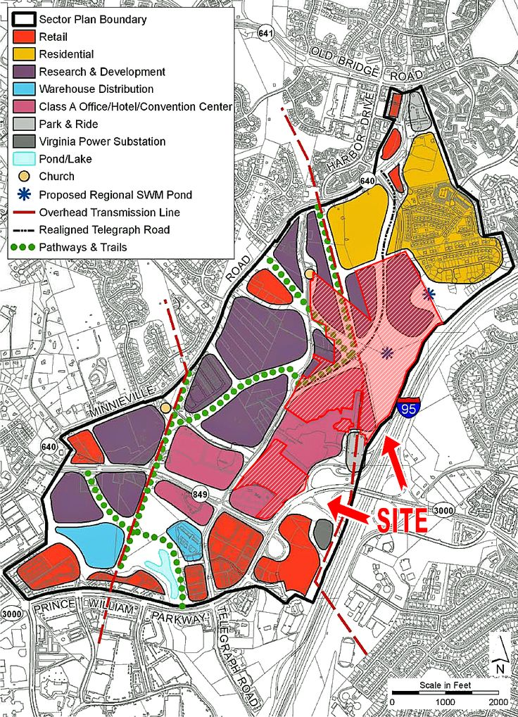 Prince William County 2008 Comprehensive Plan Parkway Employment Center - Land Use Concept Plan Map