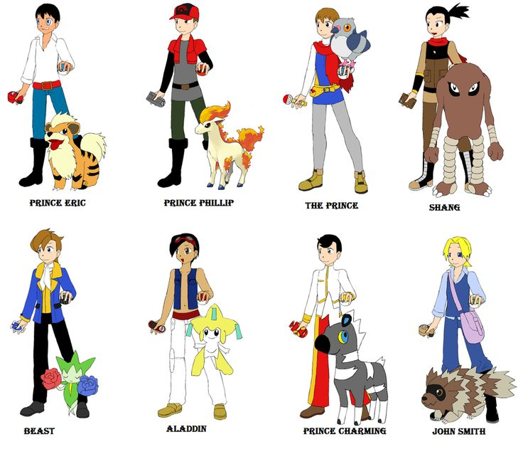 If Disney Princes were pokemon trainer by quebecgirl14 on ...