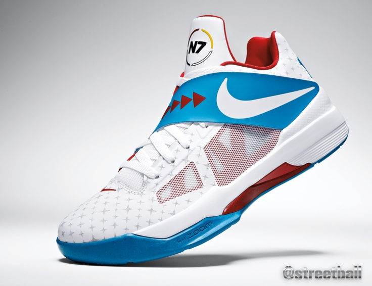 Kevin Durant new KD IV N7 basketball shoes raise money for a great cause.  KD is Streetball.