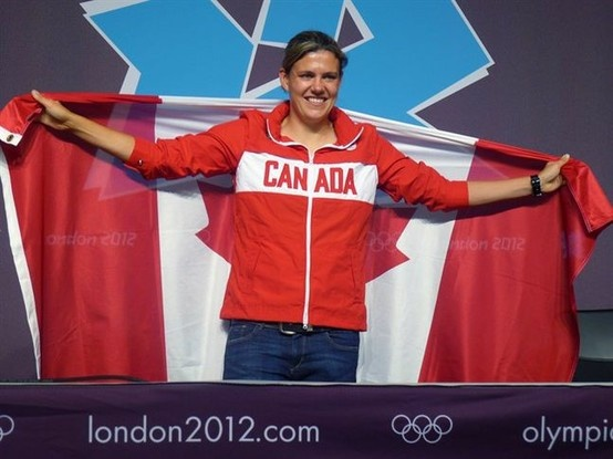 The captain of Canada's women's soccer team Christine Sinclair of Burnaby, B.C. was named the flag bearer for the closing ceremony at the 2012 London Olympics.