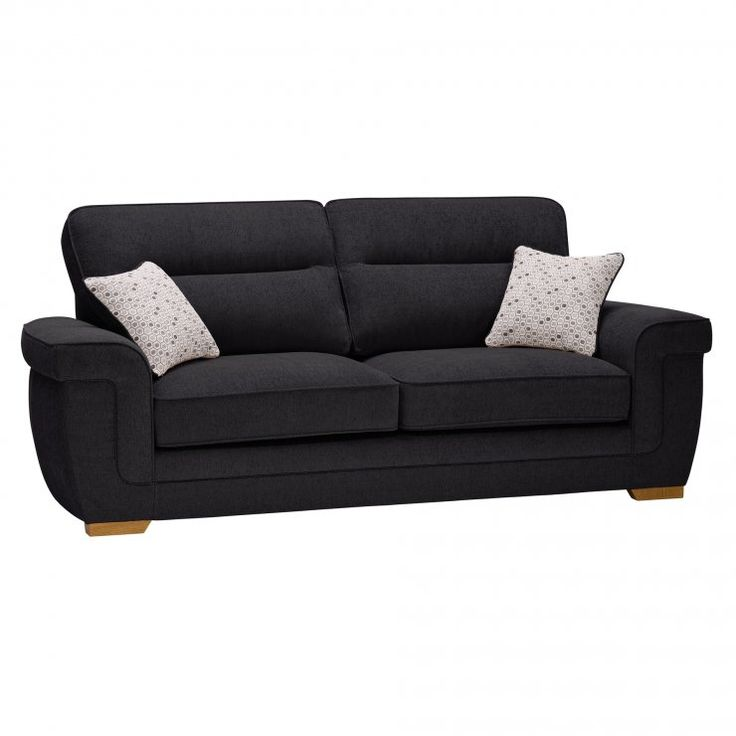 Kirby 3 Seater Sofa - Frisco Charcoal with Slate Scatters