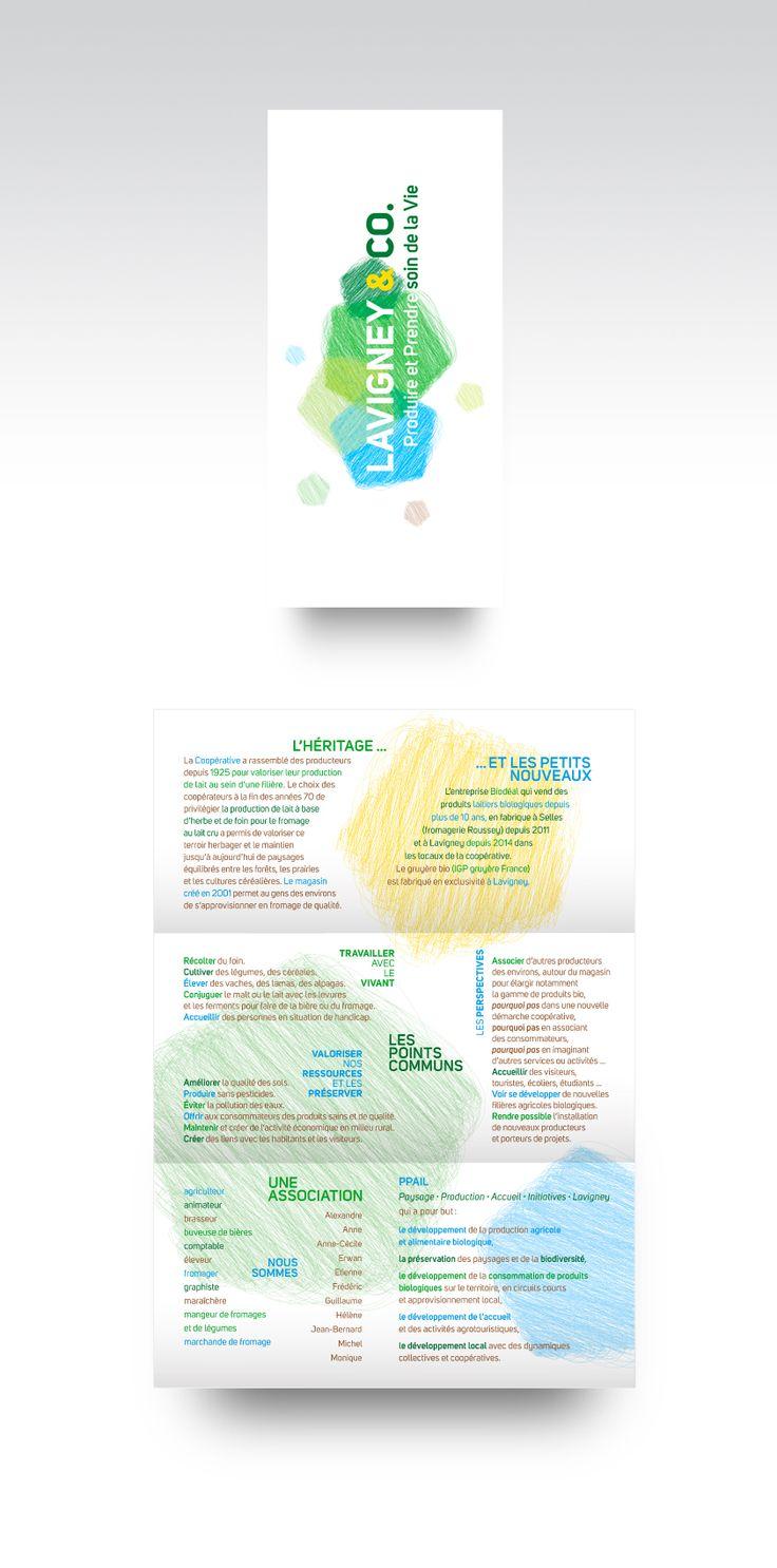 9 best flyer and pamphlet design images on pinterest brochure lavigney and co pamphlet design for an organic producers association in lavigney france solutioingenieria Images