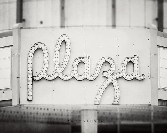 Movie Theater Decor, Movie Theater Sign, Black and White Marquee, Art for Girls Room, Media Room Decor, Retro Theater Sign, Erie PA Plaza.