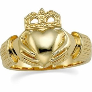Claddagh Wedding Rings - 14k Gold Claddagh Wedding Ring- This would be perfect for Ken & I