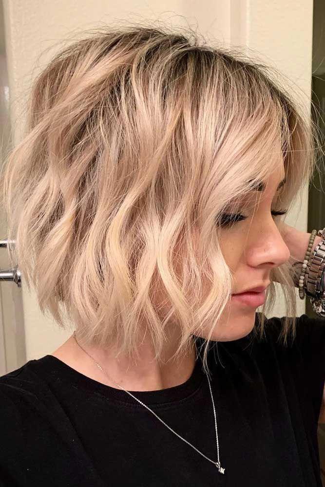 Blonde Beach Waves Fur Kurzes Haar Beachwaves Shorthair Hairstyles Bobhaircut Haare Selber Schneiden Haare Selber Schneiden Manner Kurze Haare Wellen