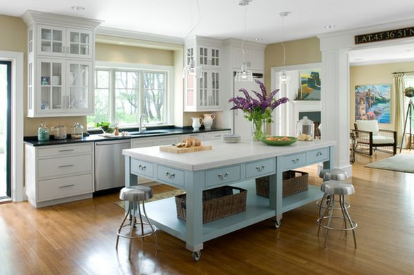 Easy DIY Kitchen Island | Portable Kitchen Islands – They Make Reconfiguration Easy And Fun