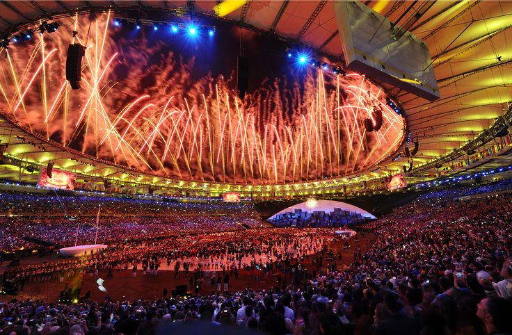 Photos from Maracana Stadium as the opening ceremony ushers in the 2016 Summer Olympic Games in Rio de Janeiro.