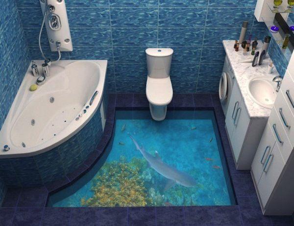 30 best 3d bathroom floor design images on pinterest | floor