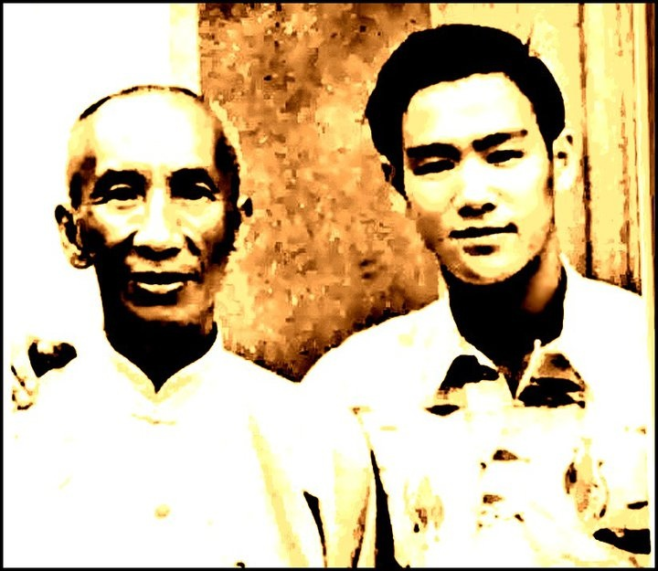 Ip Man, aka Yip Man, and his most famous Wing Chun student Bruce Lee