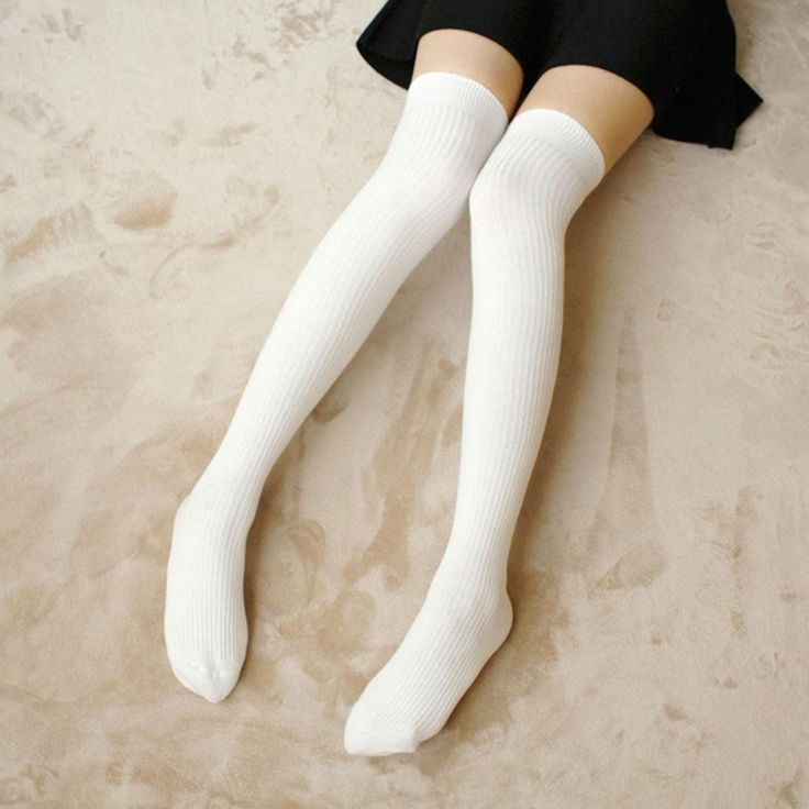 Autumn winter knee-length Stockings sexy women striped stocking solid 6 colors stockings