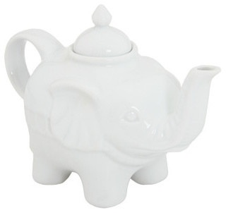 BIA Cordon Bleu Elephant Teapot, White - eclectic - coffee makers and tea kettles - - by Zappos