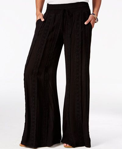 American Rag Crocheted Wide-Leg Pants, Only at Macy's