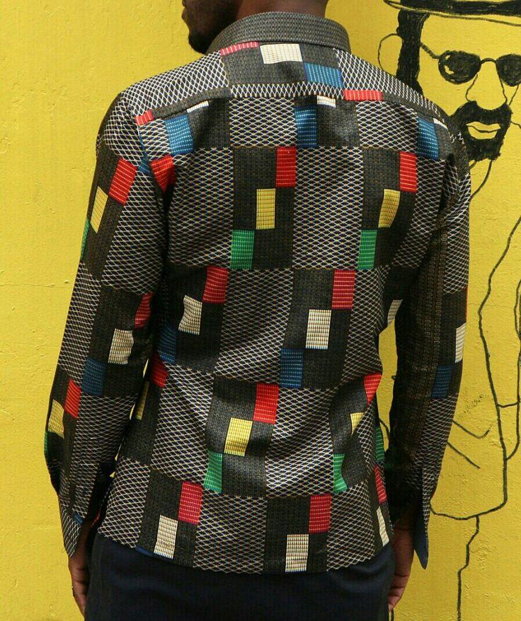 Baronet Ankara shirt (back) $120.00
