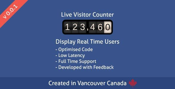 Live Visitor Counter by cusackd Live Visitor Counter displays a real time counter of active users on the post or page you are currently viewing using live web sockets, this allows for instant results. Try our live preview to see the effects and how fast they hap