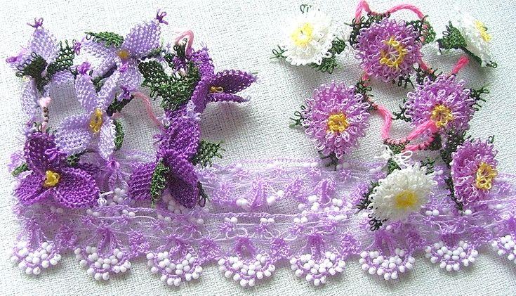 Nallıhan yöresi iğne oyası. Turkish crochet