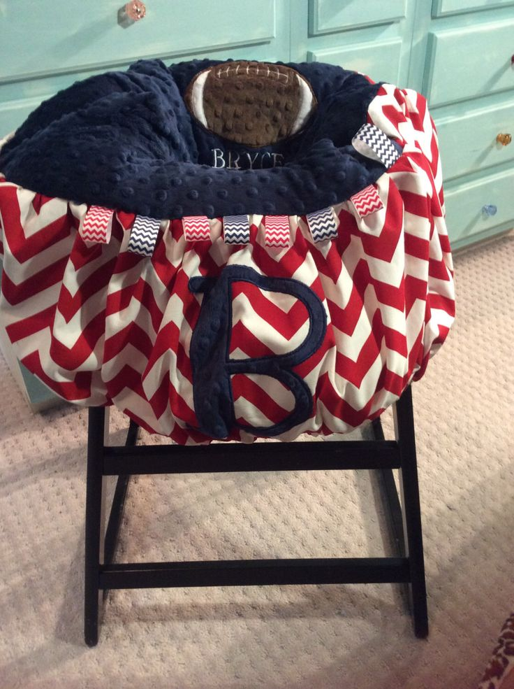 Red Chevron and Navy Initial Shopping Cart Cover, Chevron Cart cover, Sports Shopping Cart cover by TWINSANDQUINN on Etsy https://www.etsy.com/listing/217837229/red-chevron-and-navy-initial-shopping