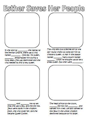 Good idea for Bible lessons...fill in the blanks for Scripture and draw pictures to go with it!