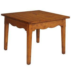 Antique square table in solid larch the late nineteenth rustic mountain decor