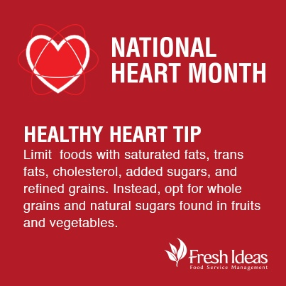 February is National Heart Month! Here are some wellness tips on improving your heart health.