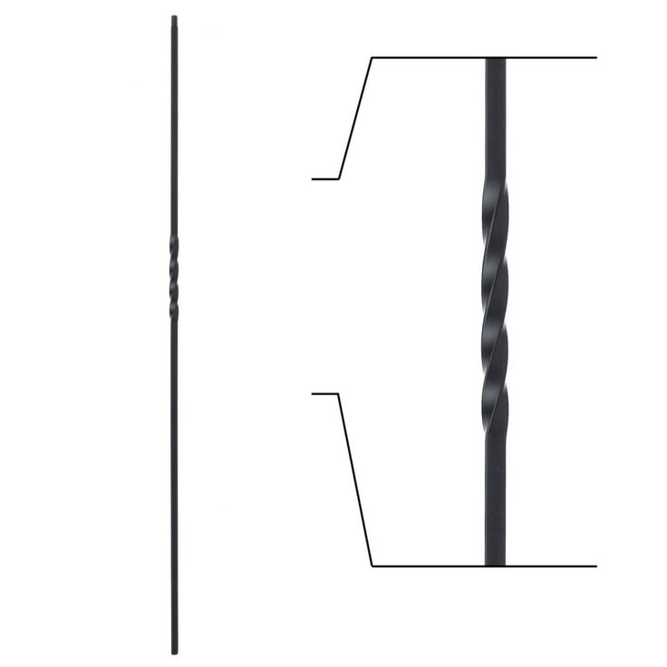 16.1.1 Single Twist Iron Baluster