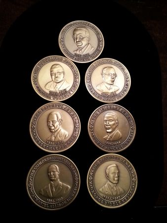"Set of 7 Commemorative Coins for""The Seven Jewels"" of Alpha Phi Alpha Fraternity,Inc."
