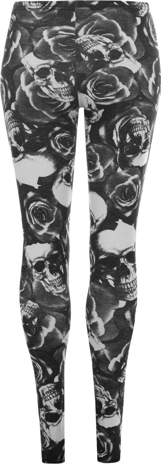 WearAll Women's Plus Size Skull Pirate Print Ladies Long Leggings >>> Hurry! Check out this great product : Plus size leggings