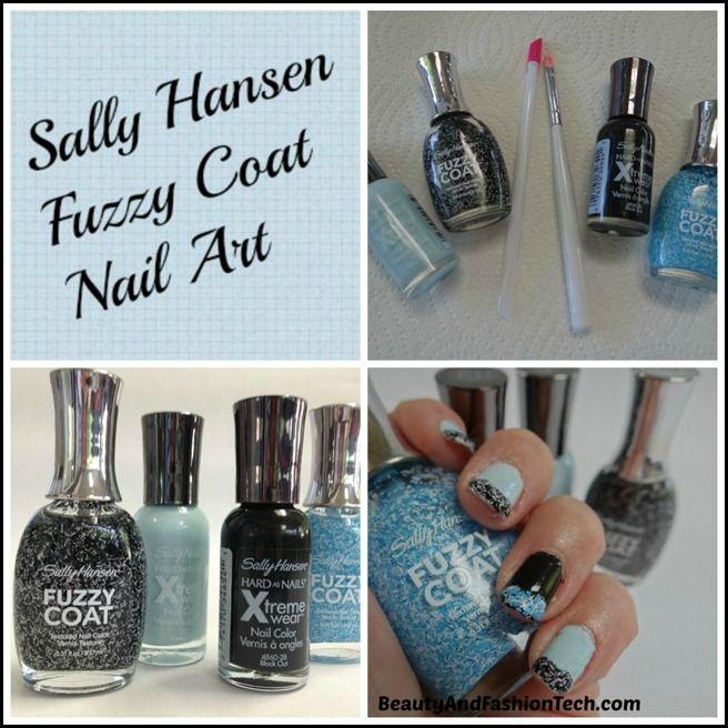 Sally Hansen Fuzzy Coat Nail Art Tutorial - Beauty and Fashion Tech.