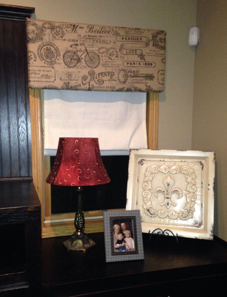 Cheap And Easy No Sew Window Cornice Board Foam Wrapped