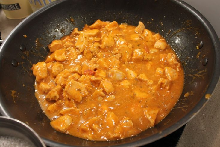 Chicken Curry with Sharwood's Indian sauce
